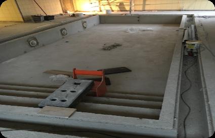 Šiaulių Petro Avižonio Regos Centras baseino betonavimas