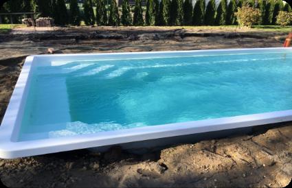 Stiklo audinio baseino vandens skaidrinimas