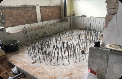 baseino statybos darbai