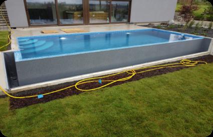 baseinas šlaite baseino įrengimas šlaite Aqua spektras