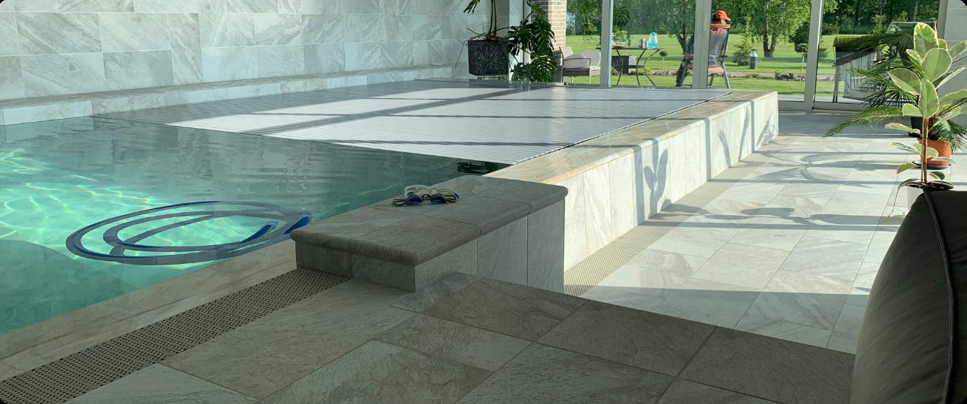 Aqua spektras plaukimo baseinas parinkta automatizuota baseino įranga vandens priežiūrai ir baseinų valdymui