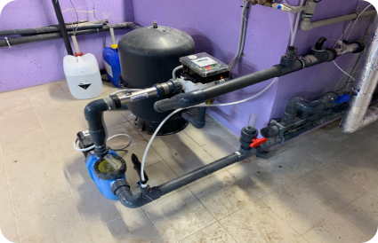 baseino įranga filtrai su siurbliais Filtrų atplovimas automatinis Speck Omnitronic sklendė